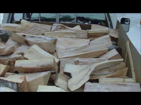 Log Splitting, Cord of Firewood, Camp Wood-Stove Hook up, 77 GMC