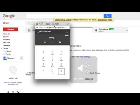 Tutorial - How to use your Gmail account to make free calls to USA and Canada