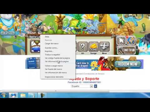 Como saber Facebook ID  User Key Session ID) De Dragon City  Monster Legends