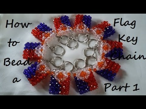 How to Bead a Flag Keychain Part 1