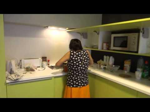 Aruna Sharma making Prasad for Shri Satyanarayan Brat Katha in BBK Talent Home, Bilbao Mar 15, 2015