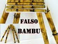 COMO FAZER FALSO BAMBU COM CANO DE PVC PASSO A PASSO. (RECICLAGEM)