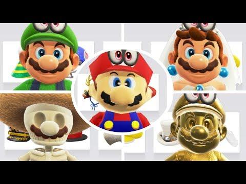 Super Mario Odyssey - All Costumes & Hats