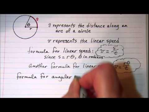 Linear and Angular Velocity Formulas