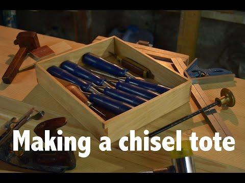 How to Make a chisel tote for my woodworking bench