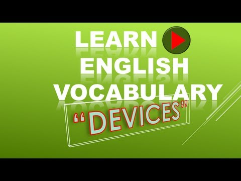 Learn English Vocabulary: Devices