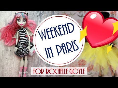 Weekend in Paris - Monster High Doll Repaint / How to Customize BJD / Dolls DIY Craft Tutorial Easy