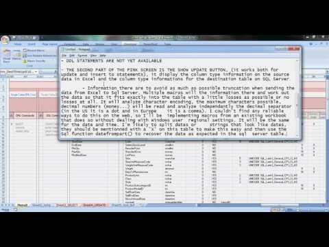 Excel tool Sql server Access MySql send and receive data