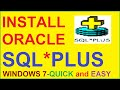 Oracle SQL Tutorial | How to Install Oracle 10g database (SQL* PLUS) in windows 7-Step by Step