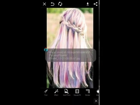 How to change your hair colour with PicsArt