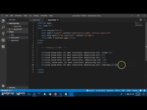 HTML 5 Tutorial (semantic elements) 2019 #2