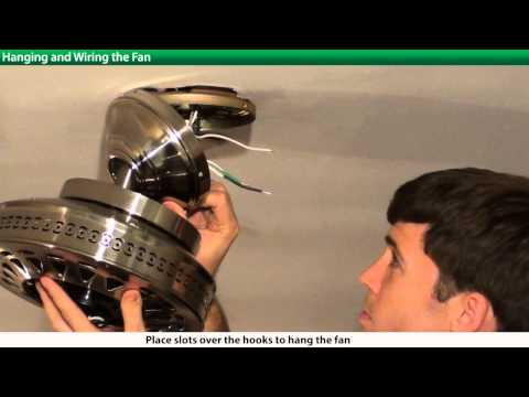 How to Install a Hunter Ceiling Fan - 2xxxx Series Models