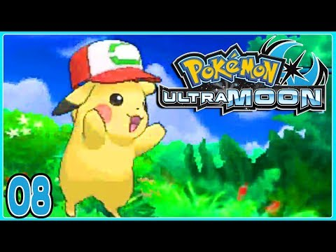 Pokemon Ultra Moon Part 8 ASH HAT PIKACHU! Gameplay Walkthrough ( Pokemon Ultra Sun & Ultra Moon )