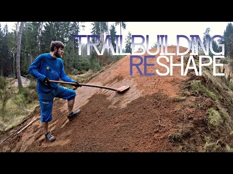 Trail building - reshaping at Bikepark Trippstadt with Felix | timelapse -subtitled-