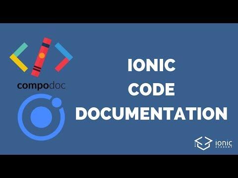Ionic Code Documentation with Compodoc