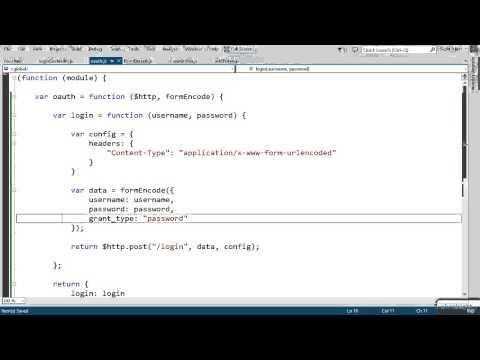 AngularJS authorization token tutorial | Pluralsight