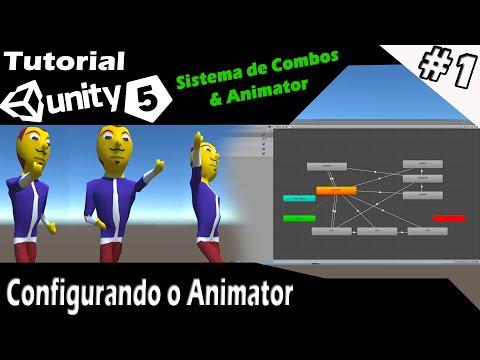 Tutorial Unity 5 - Sistema de Combos & Animator #1 - Configurando o Animator