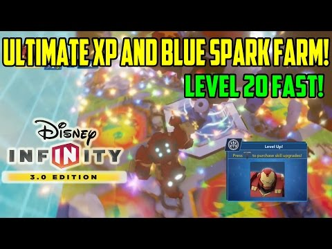 Disney Infinity 3.0 | Unlimited XP And Blue Spark Farm (How To) | Fast LVL Trick