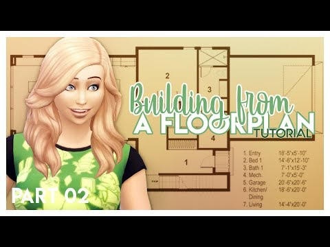 Building Houses From A Floorplan In The Sims | Part 02