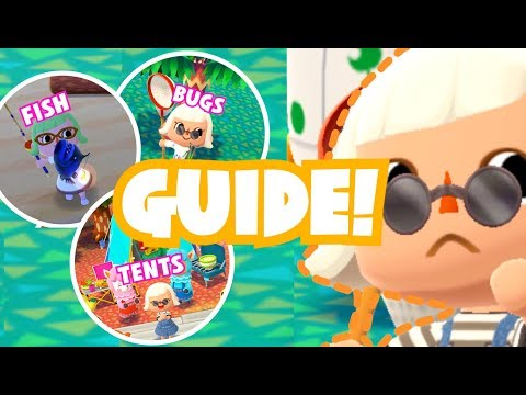RARE AND COMMON FISH, BUGS + TENT GUIDE | Pocket Camp Tips #03 ♡
