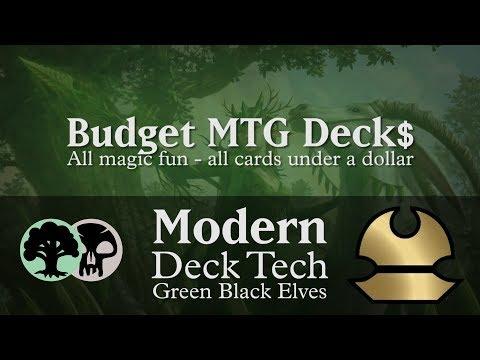 Budget Green Black Elves - Modern Deck Tech - $37