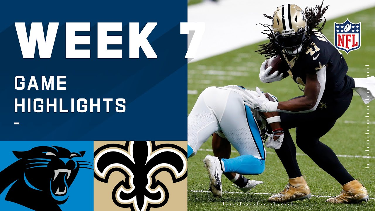 Panthers vs. Saints Week 7 Highlights | NFL 2020