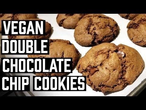 VEGAN DOUBLE CHOCOLATE CHIP COOKIES   LIV B RECIPE REVIEW   Vegetarian Cookies