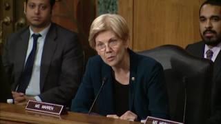 Senator Elizabeth Warren questions Wells Fargo CEO John Stumpf at Banking Committee Hearing