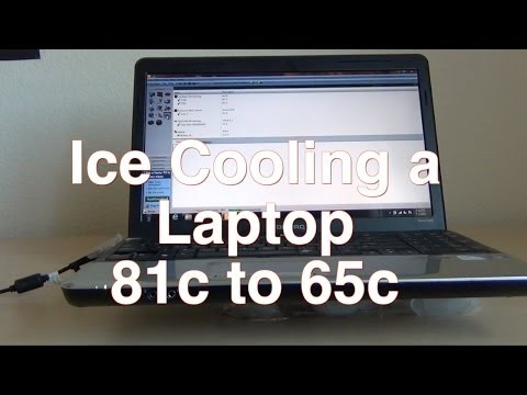 Ice cooling a laptop
