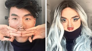 The Try Guys Tiny Face Makeup Challenge