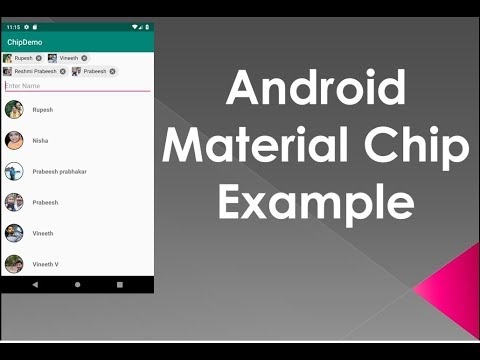 Android Material Component Entry Chip Example