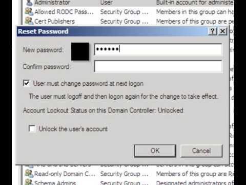 Changing Administrator Password on Windows 2008 Domain Control
