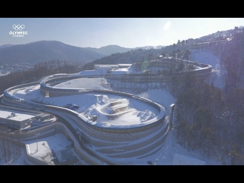 Stunning drone footage of 2018 Winter Olympics in South Korea venue
