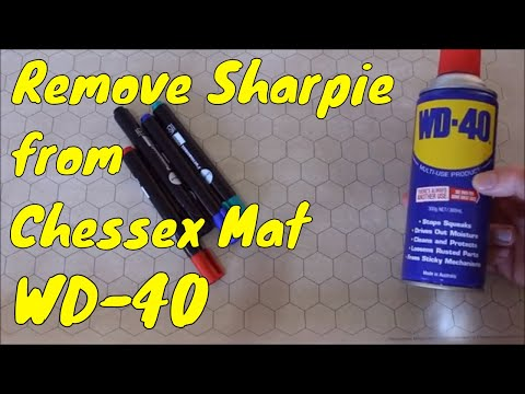 Does WD40 Remove Permanent Pen, Chessex Vinyl Mat.