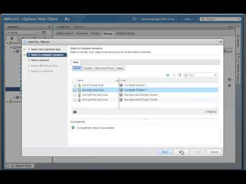Migrating a Powered On Virtual Machine
