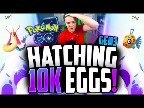 Pokemon Go - Hatching GEN 3 10K EGGS! (CRAZY HIGH IV LUCK!)