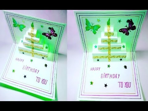 How to make birthday Greeting card with A4 paper