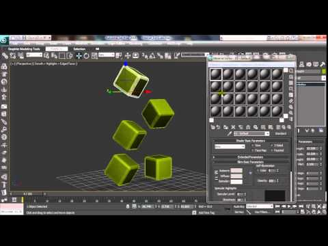 3D Max Ice Cubes Modeling & Animation Tutorial