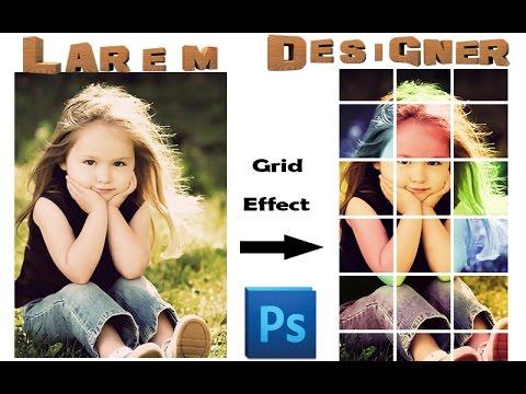 Grid Effect ,  photo effects Photoshop cs6 tutorials