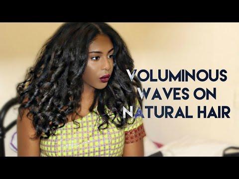 NATURAL HAIR   VOLUMINOUS WAVES