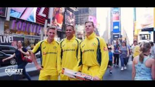 Aussie cricketers hit the Big Apple