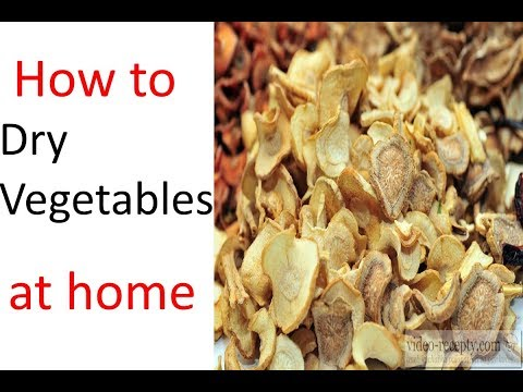 How to dry vegetables at home (dehydrated vegetables) (Urdu / Hindi) DIY