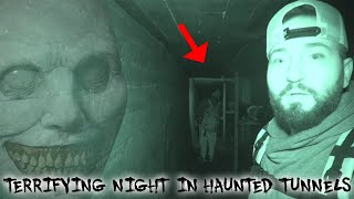 TERRIFYING NIGHT IN THE HAUNTED TUNNEL AT 3 AM (WE REACHED THE END)