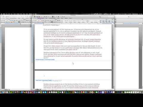 Format X page of Y pages on MS Word 2011 Mac