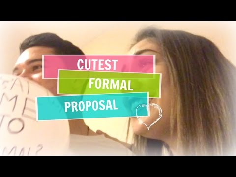 CUTEST FORMAL PROPOSAL EVER!!!