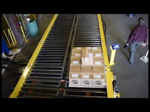 LEWCO Chain Driven Live Roller & Transfer Loop Conveyor