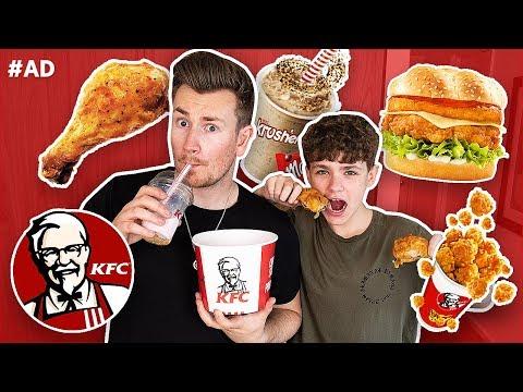 BROTHERS TRY EVERY FOOD ON THE KFC MENU