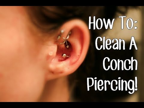 How To: Clean A Conch Piercing