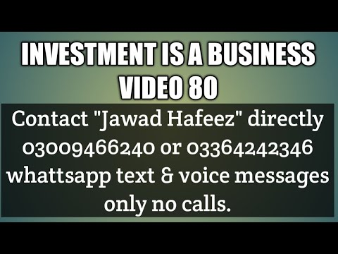 Investment is a business video 80