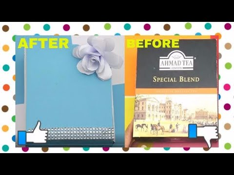 DIY Crafts-How to Make a Jewellery Box-Recycled Cardboard-RECYCLE IDEAS-recycled cardboard projects